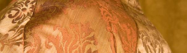 Gold orange brocade