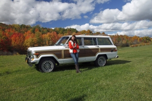Katie and her Grand Wagoneer