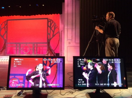 Director's view of Jeff Beach shooting RIT/NTID's Dangerous Signs.